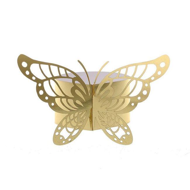 Kroužky na ubrousky - motýli 1