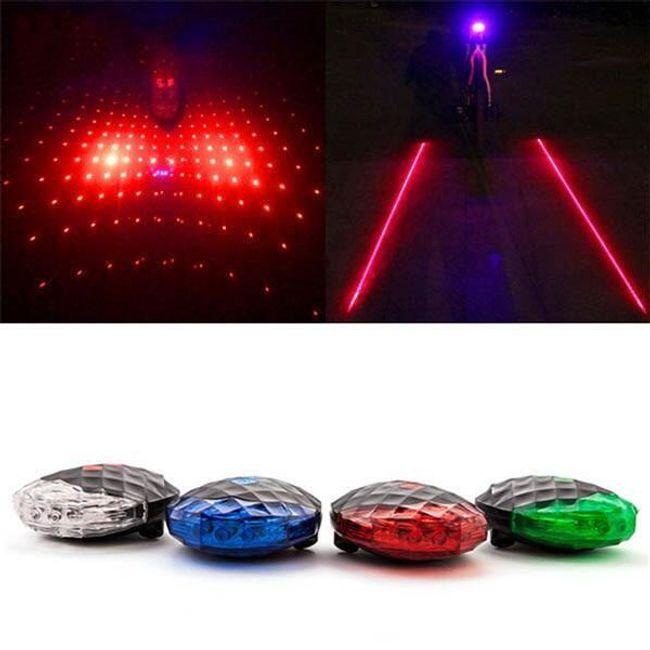 Lampă de spate cu laser pentru bicicletă 1
