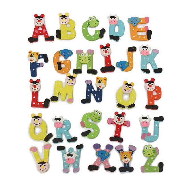 Magneți veseli pentru frigider - alfabet 1