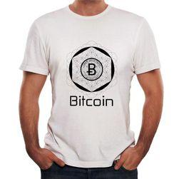 Tricou cu mâneci scurte și logo Bitcoin