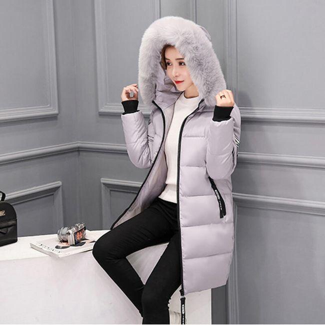 Dámská zimní bunda Alexia - Šedá-M 1