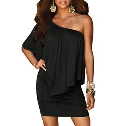 Dámské šaty bez ramínek - upnutá sukně