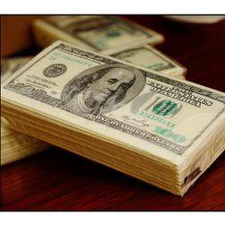 Pachet de șervețele de hârtie cu motivul dolarului american