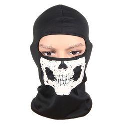 Maska proti větru s motivem lebky