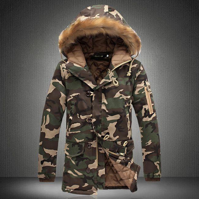 Pánská zimní bunda Taron - Zelená-M 1