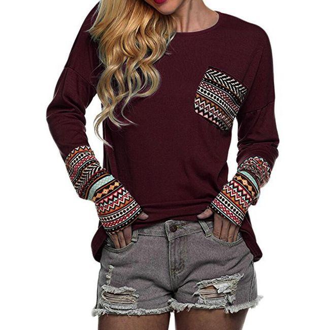 Ženska majica dugih rukava Casie 1