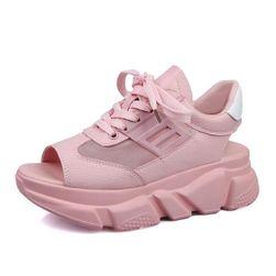 Damskie sandały na koturnie Noxy