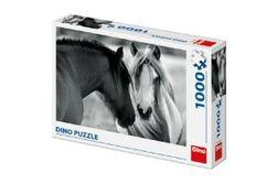 Puzzle cal alb-negru 66x47cm, 1000 piese în cutie 32x23x7,5cm RM_21532618