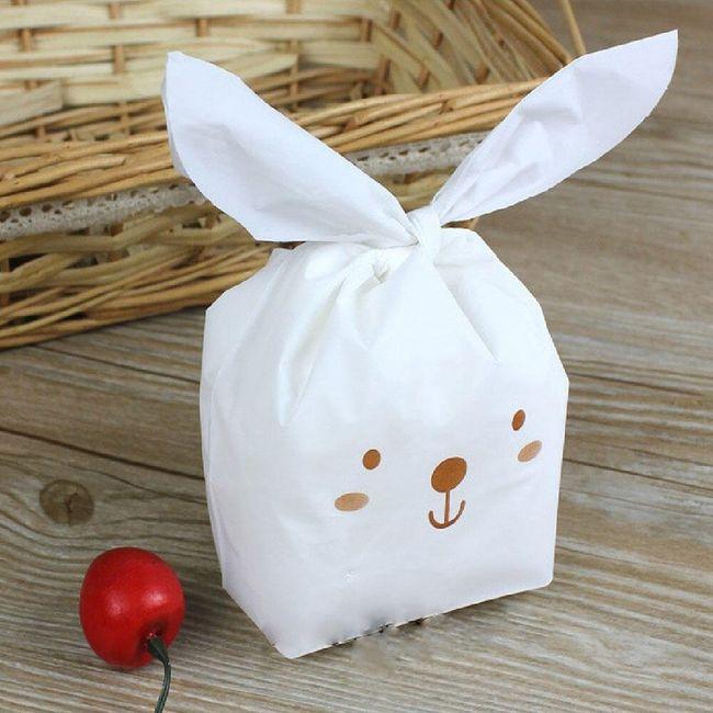 Ozdobný plastový sáček s králičími oušky - 5 variant 1