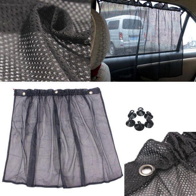 Autó függöny fekete 1