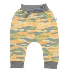 Musztardowe spodnie dresowe dla niemowląt RW_teplacky-with-love-nbkoa80