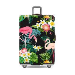 Husă protectoare pentru geamantan - flamingo
