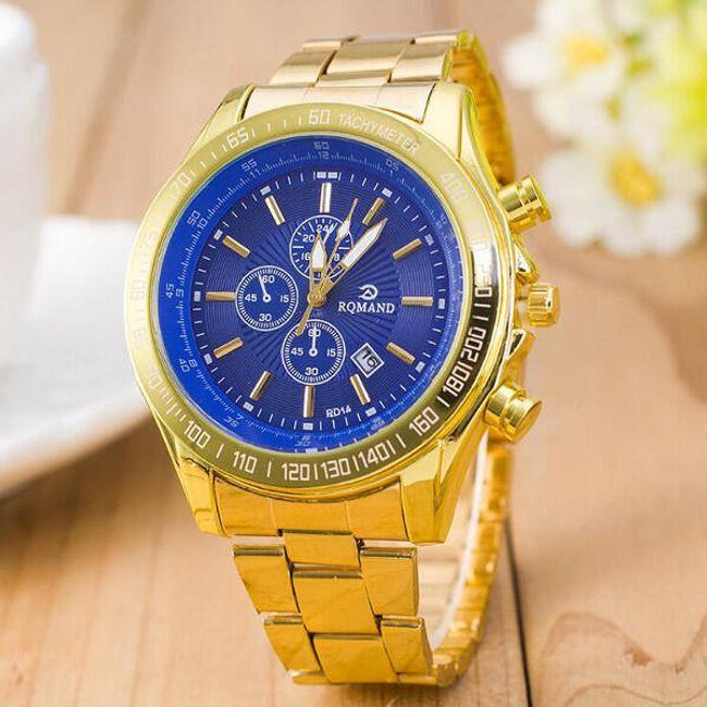 Элегантные мужские наручные часы, золотого цвета- 3 расцветки циферблата 1