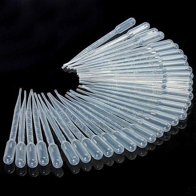 100 komada prozirnih plastičnih pipeta 1