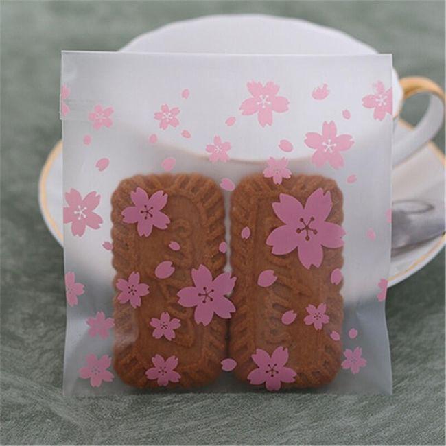 Vrečke s cvetličnim vzorcem - 100 kosov 1
