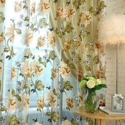 Květinová záclona- Žlutá