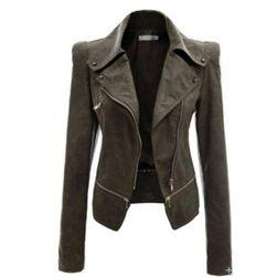 Ženska jakna od umjetne kože - 4 boje