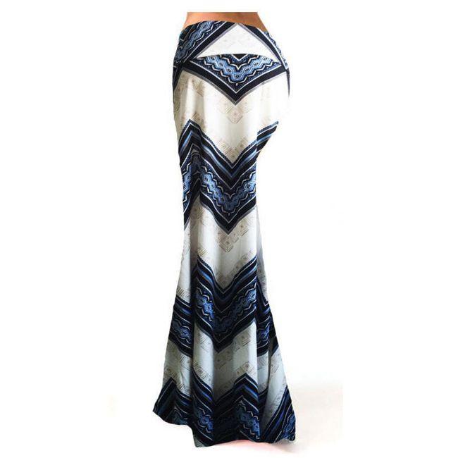Dlouhá sukně s výrazným vzorováním - 2 varianty 1