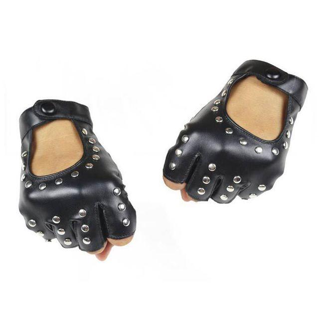 Rękawice na motor z nitami 1