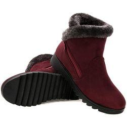Damskie buty zimowe z zamkiem - 3 kolory