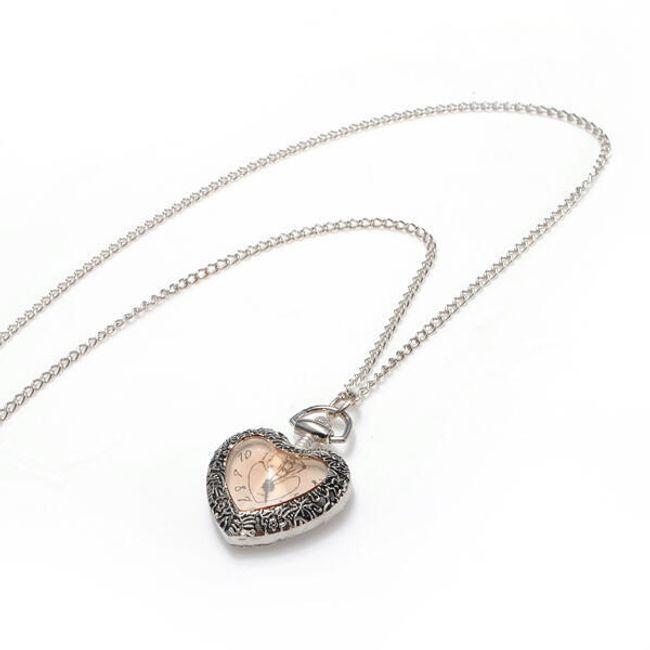 Náhrdelník s přívěskem ve tvaru srdce - hodinky 1