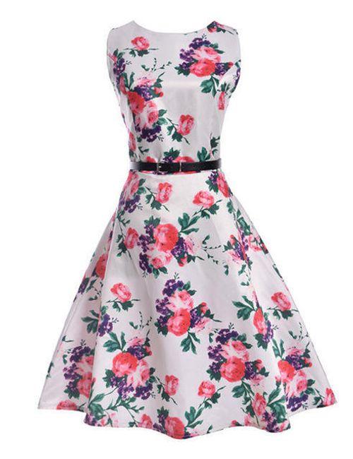 Dámské květinové šaty - 6-velikost č. 5 1