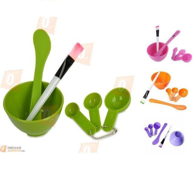 Sada pomůcek pro přípravu domácí masky - 6 kusů, 4 barvy 1