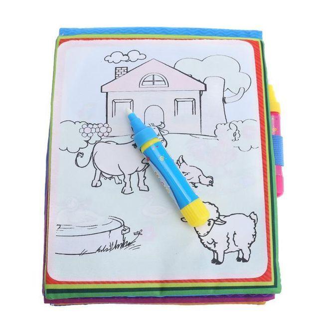 Многоразовые водные раскраски для детей KCH01 1