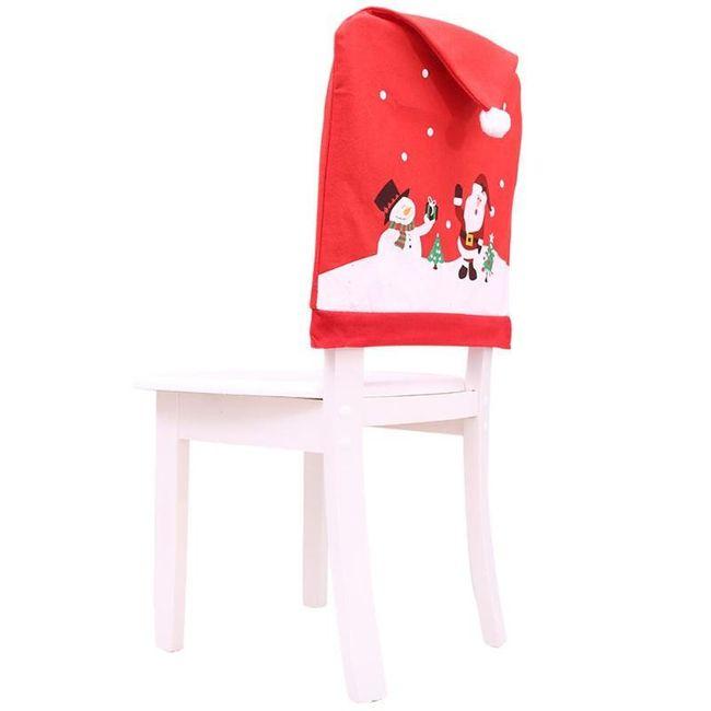 Božićna navlaka za naslon stolice 1