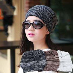 Moderní unisex čepice - černá barva