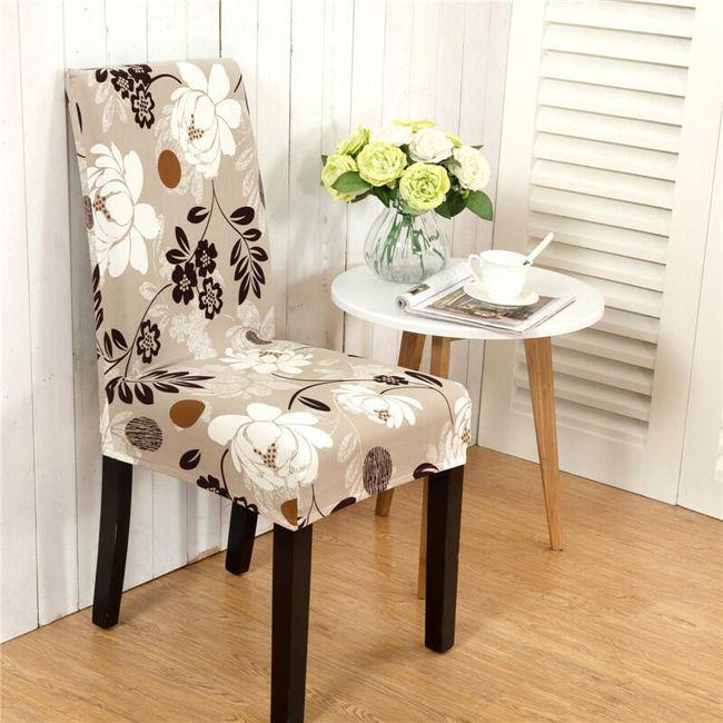 Универсальный натяжной чехол для стульев- 11 вариантов 1