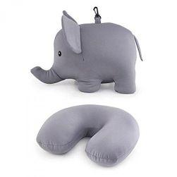 Двустранна възглавница за пътуване във формата на слон SR_588095
