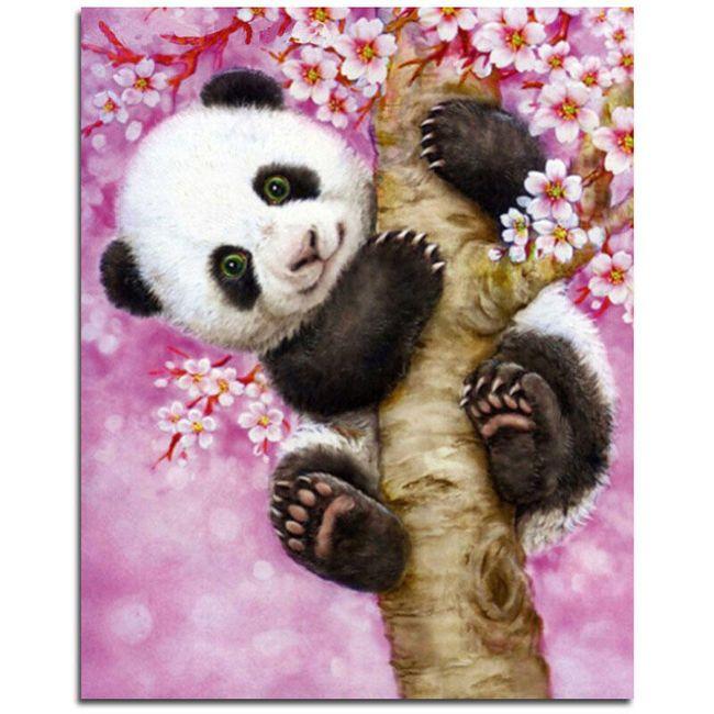 DIY slika iz kamnov - Panda 1