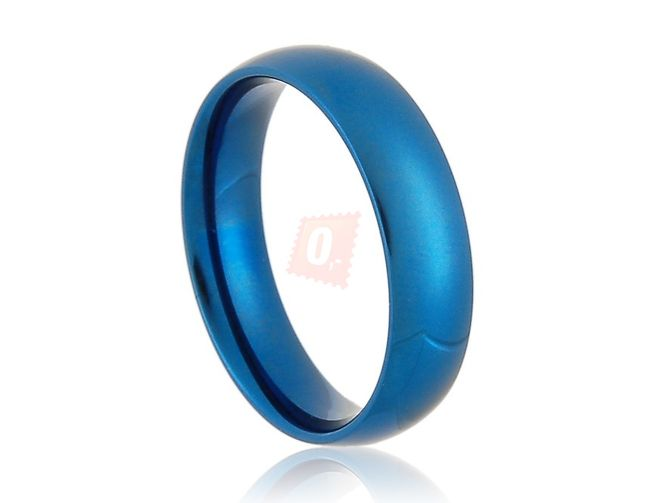 Prstýnek jednoduchého vzhledu - modrý 1