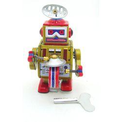 Nostalgická hračka - natahovací robot s bubínkem