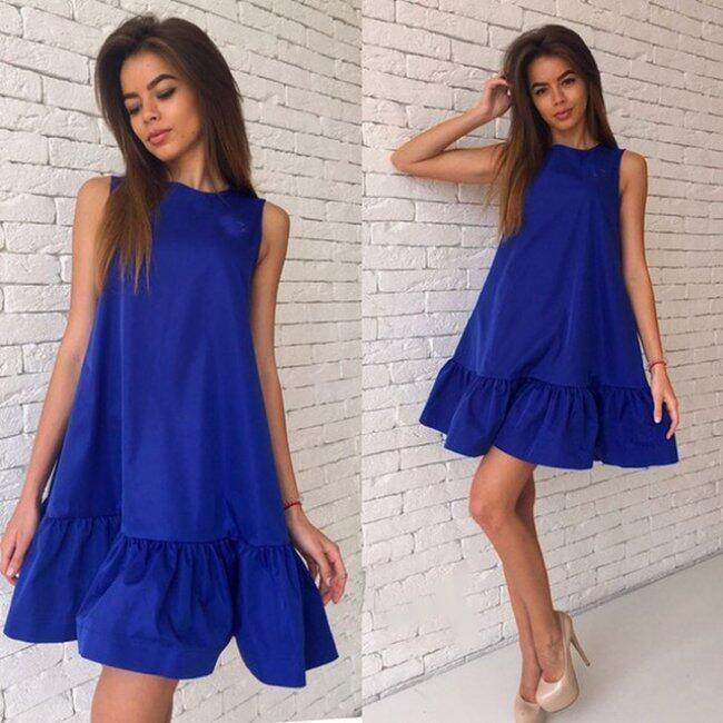 Dámské šaty Alair - Modrá-velikost č. 3 1