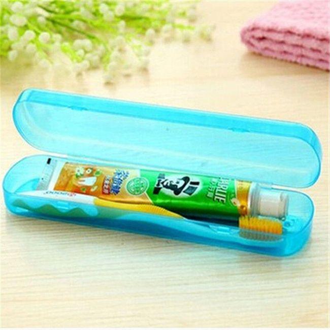 Plastová krabička na zubní kartáček a pastu - 5 barev 1