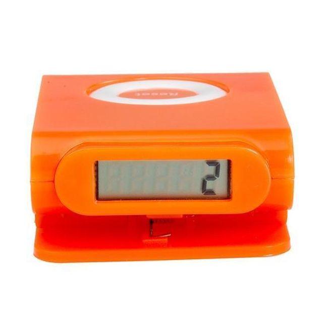 Oranžový pedometr s klipem 1