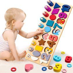 Dřevěná vzdělávací hračka DVH9