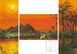 """Triptych puzzle Dojmy z Egypta 3x500 dílů + Dárek Puzzle J.Warren """"Aljašská iluze"""" v hodnotě 75 Kč PD_1227512"""