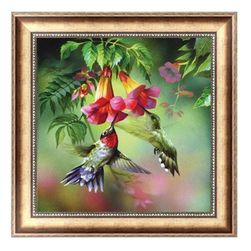 DIY картина с птицами- 5D