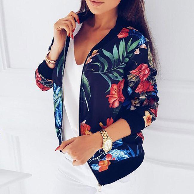 Ženska jakna sa cvetovima i listovima - 2 varijante 1
