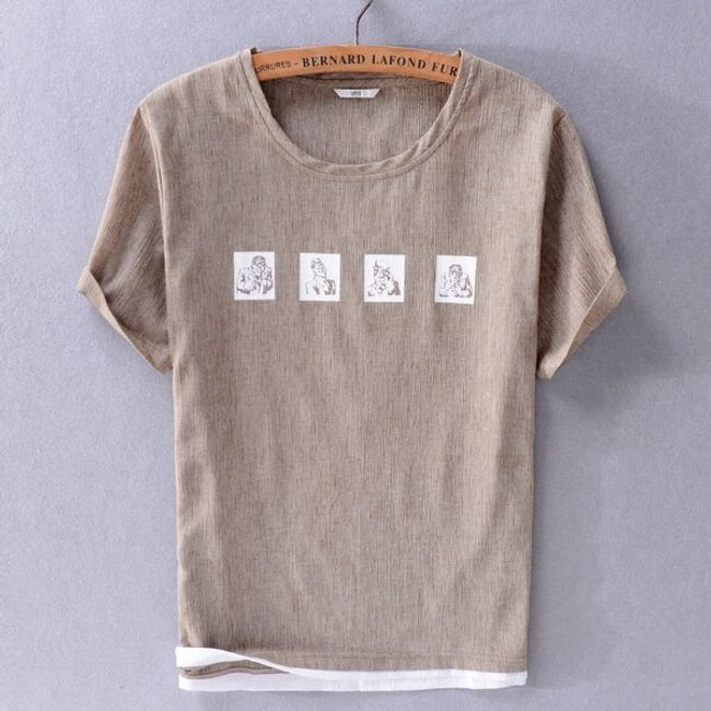 Męska koszulka z krótkim rękawem Hank 1