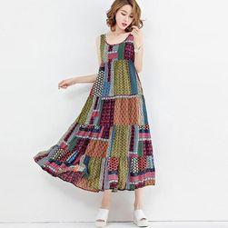 Dámské dlouhé šaty plus size - 3 barvy