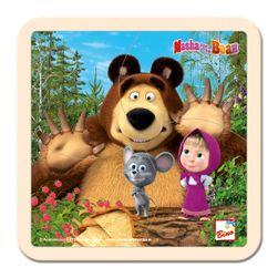 Máša a Medvěd puzzle s myškou 15x15cm RS_16119