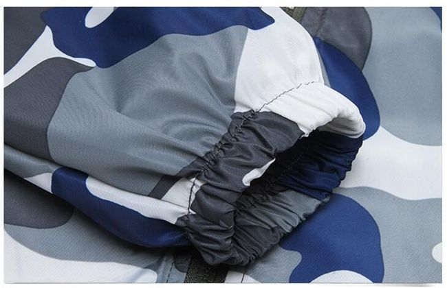 Camouflage kabát kapucnival - 3 változat