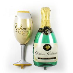 Nadmuchiwane balony szampańskie - 2 sztuki