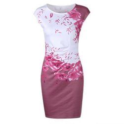 Dámské šaty Lyanna 9115 Vínová Červená-velikost č. 3