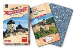 Kvarteto Hrady a zámky společenská hra karty 32ks v papírové krabičce 7x11x1cm RM_21605787