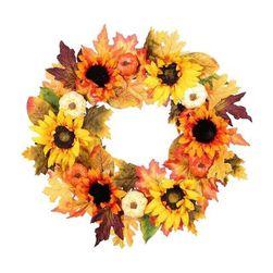 Jesienny wieniec na drzwi Ww45